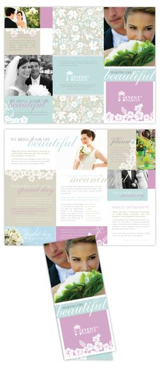Wedding Photography Marketing Set  X Promo Card  X Trifold