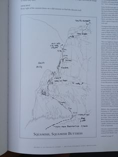 The art of the climb. Squamish Buttress from Fred Beckey's 100 Favorite North American Climbs.
