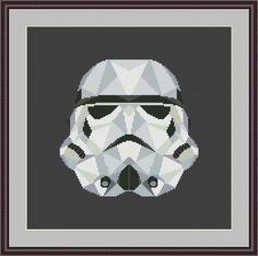 Star Wars Cross Stitch PDF pattern Stormtrooper | Craftsy