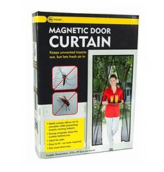 Magnetic Door Curtain Screen to Keep Flies and Insects Out Keeps Pets Out and In  Strong Magnet Mesh Curtain Allows Air to Circulate While Keeping bugs Out  210cm Drop x 49.5cm Across Per Panel