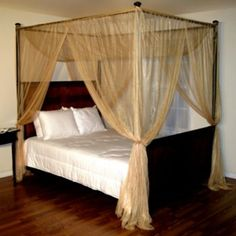 $49.99 GOLD Casablanca Palace Four-Poster Bed Canopy