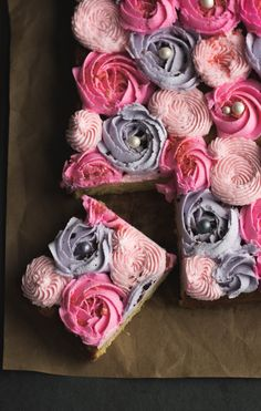 Floral frosted cake