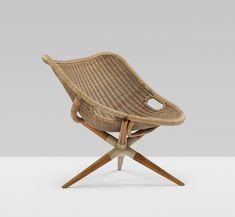 Joseph-Andre Motte Tripod Chair