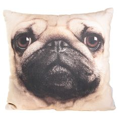 Pug Pillow! I need geno's face on there to have foreverrrr! Love the pin @Carly Sandell !!!
