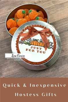 Many of you have asked for quick and inexpensive hostess gifts that you can make for Thanksgiving, Christmas or even just fun little gifts to give neighbors and co-workers throughout the year. I've got a fun project to share with you today that is a simple craft to make. Check it out at www.lisasstampstudio.com #inexpensivehostessgift #diygiftideas #handmadegiftideas #easygiftstomake #lisacurcio #lisasstampstudio #celebrationtidingsstampinup