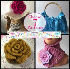 PATTERN DISCOUNT  CHOOSE 7  Knitting & Crochet by LiliaCraftParty