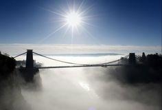 Clifton Suspension Bridge in the mist
