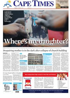 News making headlines: Despairing mom is in dark after collapse of church building