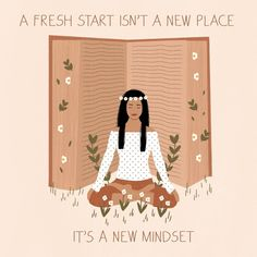 """Lou on Instagram: """"'A fresh start isn't a new place. It's a new mindset.' Prints and other products available via link in bio!"""" Isn, Fresh Start, Artist Names, Mindset, Places, Prints, Mindfulness, Illustrations, Instagram"""