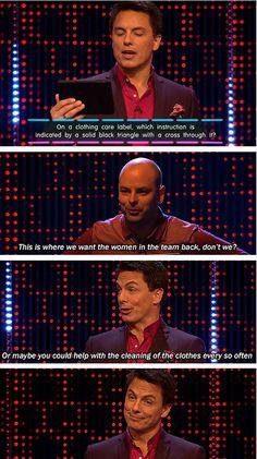 John Barrowman being sassy.
