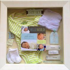 Caleb's newborn shadow box.