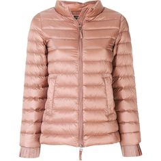 b58327eb3cf59 Twin-Set slim-fit puffer jacket (€385) ❤ liked on Polyvore featuring  outerwear, jackets, slim jacket, zip front jacket, long sleeve jacket,  padded puffer ...