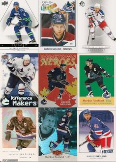 29 DIFFERENT MARKUS NASLUND HOCKEY CARDS *Inserts!! +FREE Shipping!