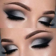 21 Insanely Beautiful Makeup Ideas for Prom Dramatic Black and Silver Prom Eye Makeup Look Prom Eye Makeup, Homecoming Makeup, Teen Eye Makeup, Evening Eye Makeup, Night Makeup, Glam Makeup, Beauty Makeup, Face Makeup, Hair Beauty