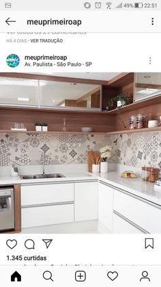 Kitchen Modernas - Bright Idea - Home, Room, Furniture and Garden Design Ideas Kitchen Corner Units, Modern Kitchen Cabinets, Kitchen Furniture, Kitchen Dining, Kitchen Decor, Kitchen Room Design, Modern Kitchen Design, Interior Design Kitchen, Kitchen Paint Schemes
