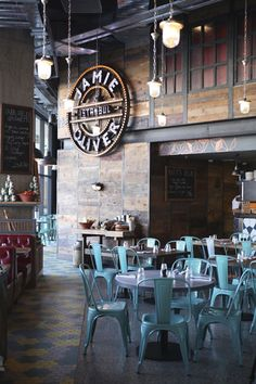 Tolix Chairs for Jamie Oliver's restaurant in Istanbul! I have some!! #LaBoutiqueVintage www.laboutiquevintage.co.uk