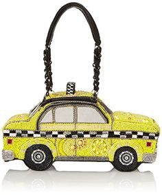 Women S Top Handle Handbags Mary Frances Taxi Clutch Bag Yellow One Size