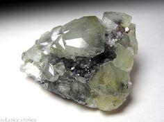 Luxurious Green Datolite Cluster with Dark Geode door SolsticeStones, $80.00