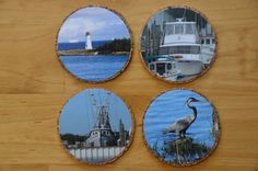 Nautical/Beachy Coasters Handmade by me using my photos. by JDLord, $13.25