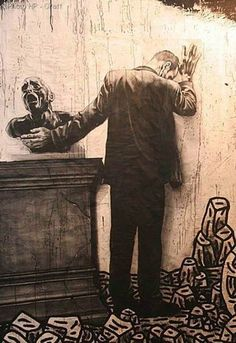 Ernest Pignon & Speedy Graphito in Paris, France | urban street artists, graffiti art, urban art
