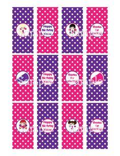 Printable Cheerleaders Pink Purple Mini Hersheys Candy Bar Wrappers | aMerAZNStyLe - Digital Art  on ArtFire