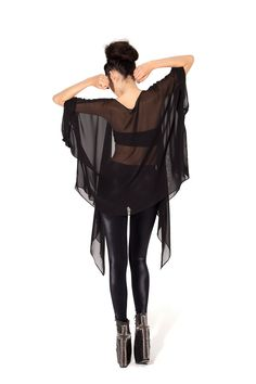 Back of Chiffon Kimono - LIMITED by Black Milk Clothing