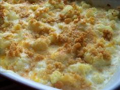 Cauliflower Au Gratin from Food.com: A very simple recipe for cauliflower that everyone always loves (even those who say they 'hate' cauliflower change their minds after trying this).