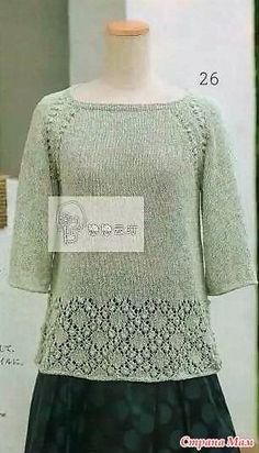 азиатский способ вязания реглана сверху: 10 тыс изображений найдено в Яндекс.Картинках - craftIdea.org Knitting Charts, Hand Knitting, Couture, Knit Dress, Free Pattern, Knitting Patterns, Knit Crochet, Clothes, Tops