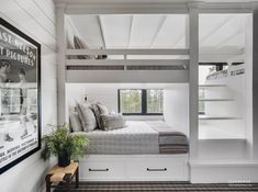 Sandbox Studio designed this stunning mountain-style farmhouse for a large family in Martis Camp, a community in Truckee, California. Mountain Style, Mountain Modern, Sub Zero Appliances, Bunk Rooms, Bunk Beds, Bedrooms, Wood Ceilings, Indoor Outdoor Living, Cabin Interiors