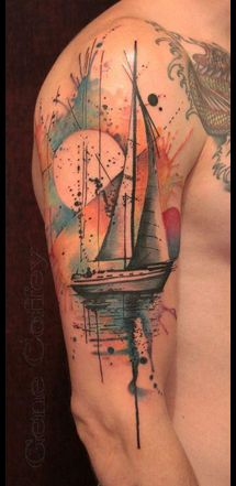 I had no idea watercolor tattoos  were a thing now! Amazing and beautiful!