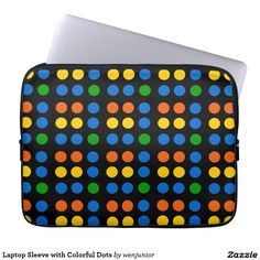 Laptop Sleeve with Colorful Dots
