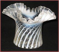 Fenton French Opalescent Spiral Optic 4 Inch Vase Ruffled Top http://www.rubylane.com/item/506482-100-5771/Fenton-French-Opalescent-Spiral-Optic#.T0h_wWFbe0c.twitter via @rubylanecom