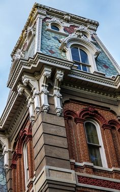 Victorian style building in Memphis, Tennessee, USA