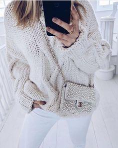 Chanel white pearl woc @Iamchouquette