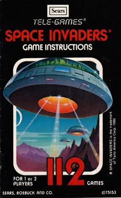 Sears Tele-Games 'Space Invaders' Manual - The Retroist Atari Video Games, Video Game Music, Classic Video Games, Retro Video Games, Retro Games, Gaming Pc Build, Sports Graphic Design, Space Invaders, Vintage Games