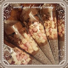 Luxurious Hot Chocolate Cone - sleep over, party bag, wedding favour, weekend treat by SweetandDandyCandy on Etsy
