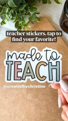 Teacher Stickers, Cute Stickers, Wall Stickers, Sticker Shop, Sticker Design, Printable Sticker Paper, How To Make Stickers, Teacher Memes, Teacher Style