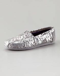 I freely admit I have a TOMS problem, but my feet love them so very much! Be the Change Slip-On by TOMS at Neiman Marcus.