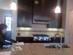 Brohn model kitchen - we went with white shaker cabinets