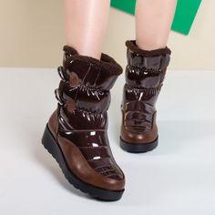 Cizme dama Snody maro de iarna 25226 Black Friday, Biker, Wedges, Adidas, Boots, Sneakers, Fashion, Crotch Boots, Tennis
