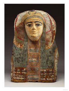 An Egyptian Cartonage Mummy Mask, 3rd Intermediate Period, 1070-712 B.C.