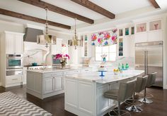 kitchen with colorful accents | IBB Design Fine Furnishings