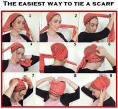 How To Tie My SCARF TICHEL,Hair Snood, Head Scarf,Head Covering,jewish headcovering,Scarf,Bandana,apron, Mitpachat,chemo, Hair Loss,Modesty by SaraAttaliDesign on Etsy https://www.etsy.com/listing/197954458/how-to-tie-my-scarf-tichelhair-snood