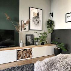 home decor inspiration Living Room Storage, Living Room Grey, Home Living Room, Living Room Designs, Living Room Decor, Accent Walls In Living Room, Interior Desing, Room Colors, Paint Colors
