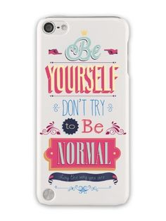 GRÜV Case - Trés Chic! - Design 'Be Yourself soyez vous-même citation inspirante' - Impression de Haute Qualité sur Coque Rigide Blanc - pour Apple iPod Touch 5 5G , http://www.amazon.fr/dp/B00J74ZC7G/ref=cm_sw_r_pi_dp_De3Aub0HPHG5R