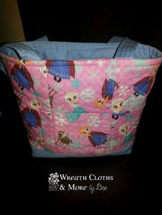 Frozen Quilted Kids Tote Bag by WreathClothsbyDee on Etsy, $30.00