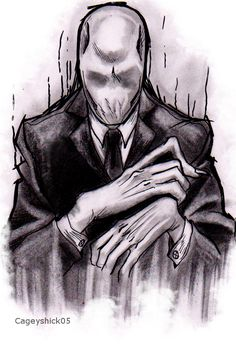 SlenderMan tattoo design - TAKEN ALREADY XD - by Cageyshick05.deviantart.com