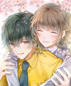 Anime Couples Drawings, Anime Couples Manga, Cute Anime Couples, Manga Anime, Cool Anime Guys, Girls Anime, Anime Art Girl, Anime Couple Kiss, Anime Muslim