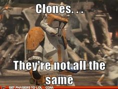 No they are not. And I know that Rex never hurt anyone. He didn't carry out order 66. I am almost positive of that.