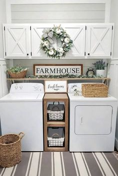 Smart Farmhouse Laundry Room Storage Organization Ideas - Admit it, farmhouse l. - Smart Farmhouse Laundry Room Storage Organization Ideas – Admit it, farmhouse laundry room is us - Design Ikea, Küchen Design, Interior Design, Design Concepts, Interior Ideas, Laundry Room Organization, Laundry Room Design, Storage Organization, Smart Storage